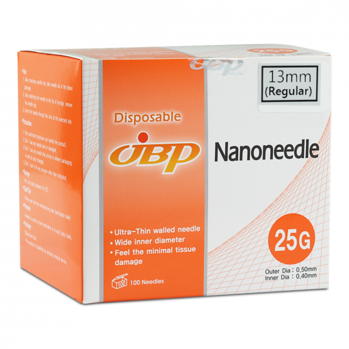 JBP Nanoneedle 25G 13mm Regular (100 UTW needles)